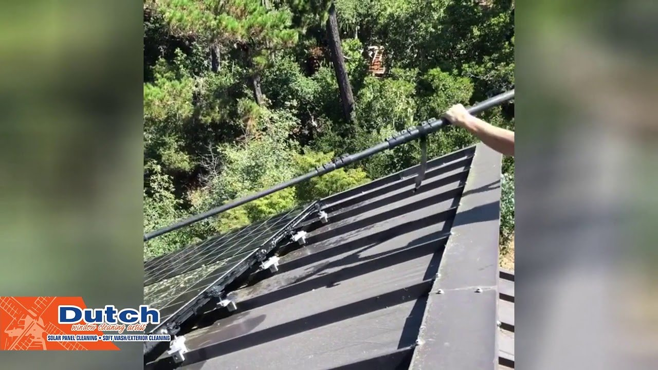 This is how we clean solar panels in San Luis Obispo County